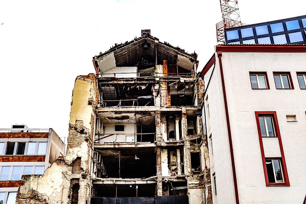 Bombed Radio Television of Serbia--Belgrade