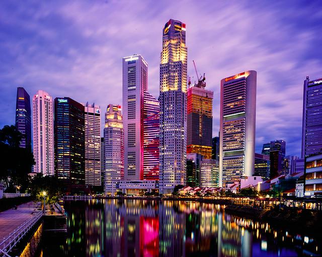 Blue Hour over Singapore's City Scape