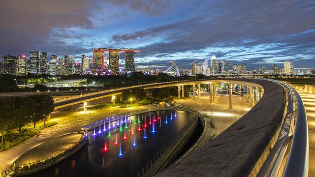 Singapore Marina Barrage Blue Hour Curves [In Explore 6Aug2020]