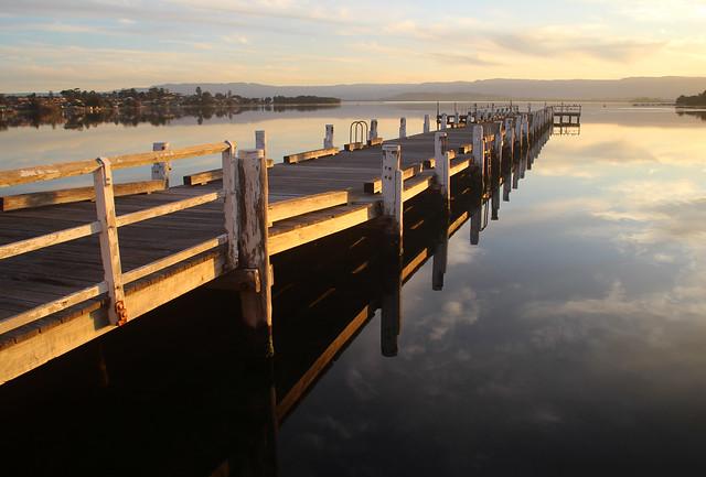 Sunset on Lake Illawarra