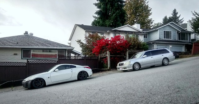 Nissan 350Z and Toyota Crown Athlete Wagon in PoCo, BC
