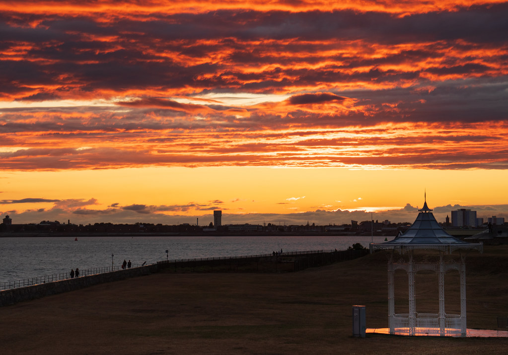 Sunset over the bandstand - 'Explored'