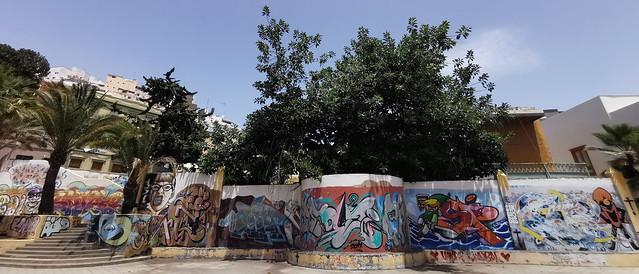 Graffitis en la Plaza Nueva de San Nicolás Las Palmas de Gran Canaria 136