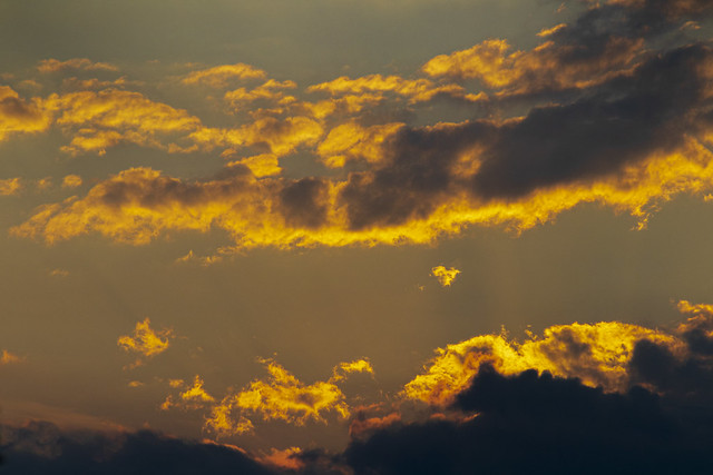 Glowing clouds