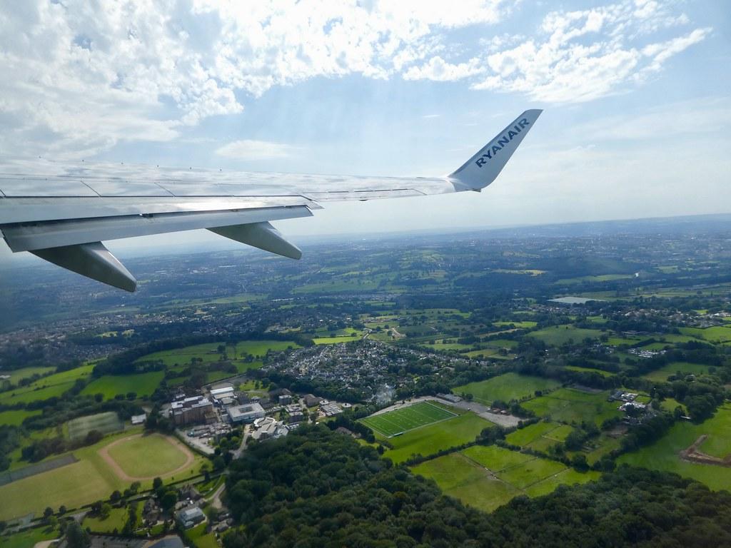 Departing Leeds Bradford Airport