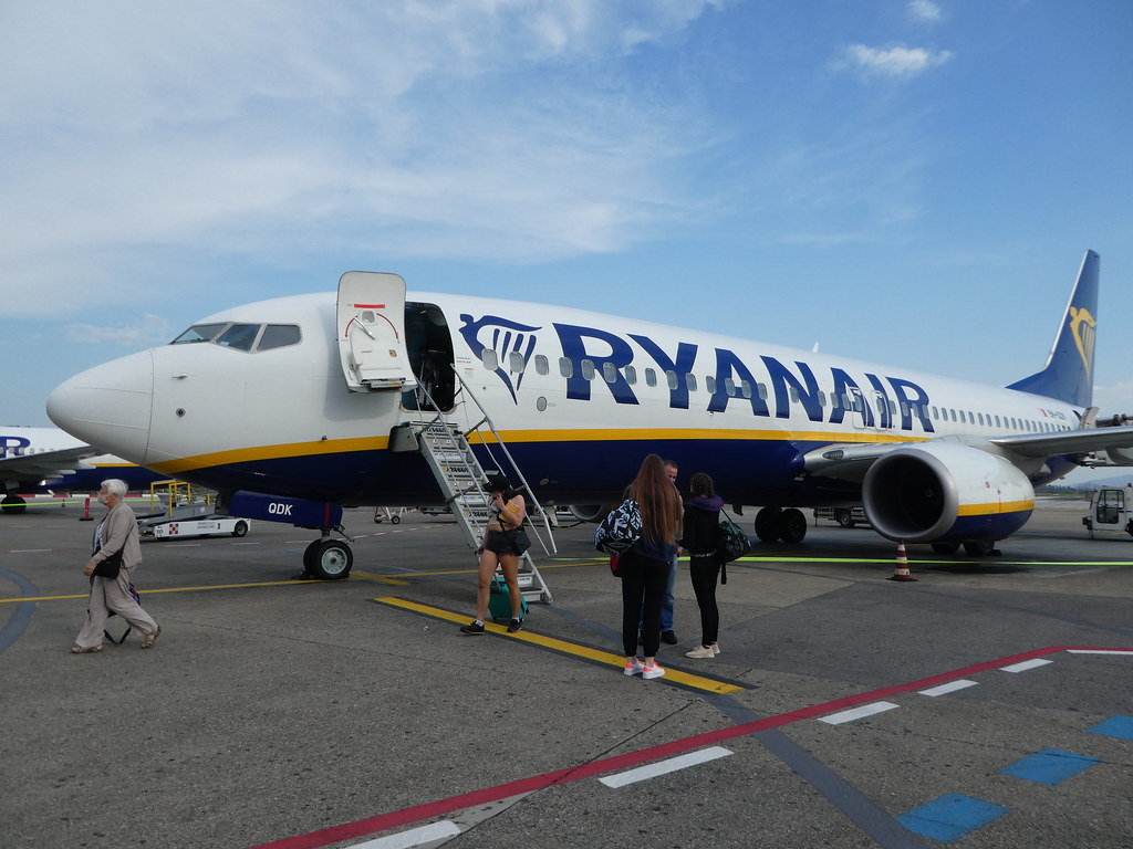 Disembarking Ryanair flight