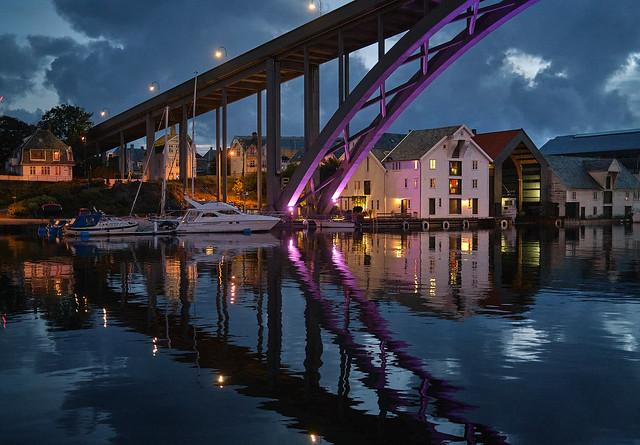 August evening. Haugesund - Norway