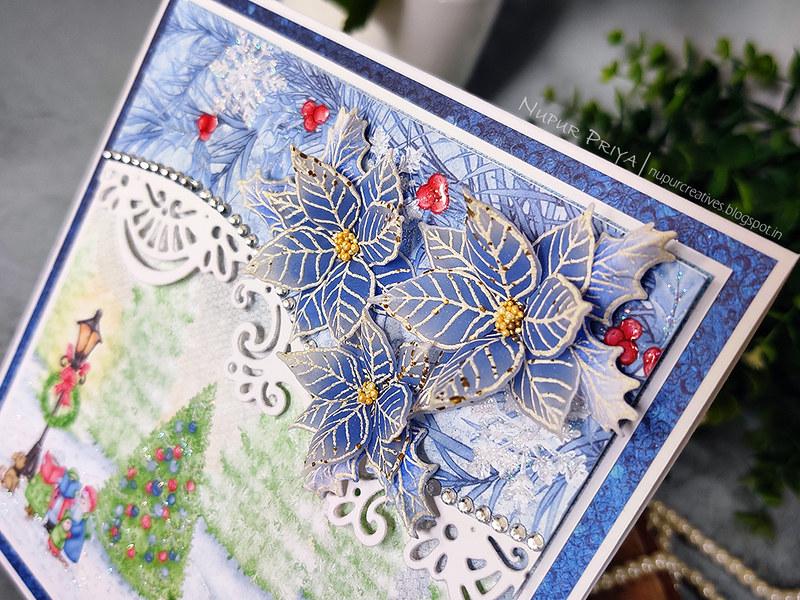 Blue Ponsettia card_Nupur Priya_03