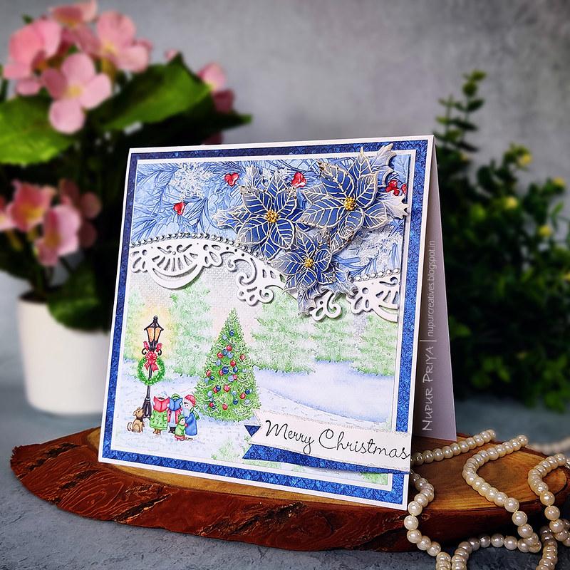 Blue Ponsettia card_Nupur Priya_02