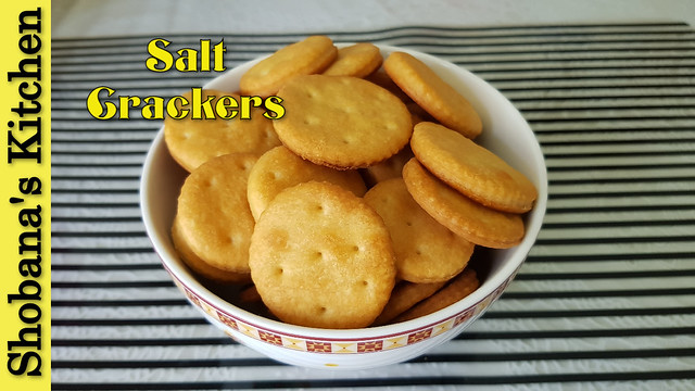 Salt Crackers / உப்பு பிஸ்கட் ( Eggless & Butterless Crackers ) / Saltine Cracker / Shobanas Kitchen