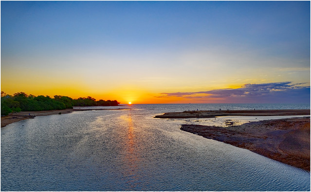 Sunset over Rapid Creek mouth, Darwin Harbour, NT, Australia