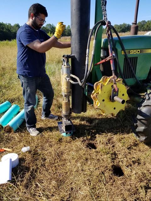 Jasmeet Lamba takes soil samples