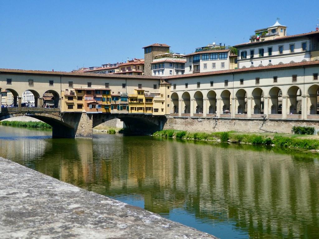 Ponte Vecchio across River Arno Florence