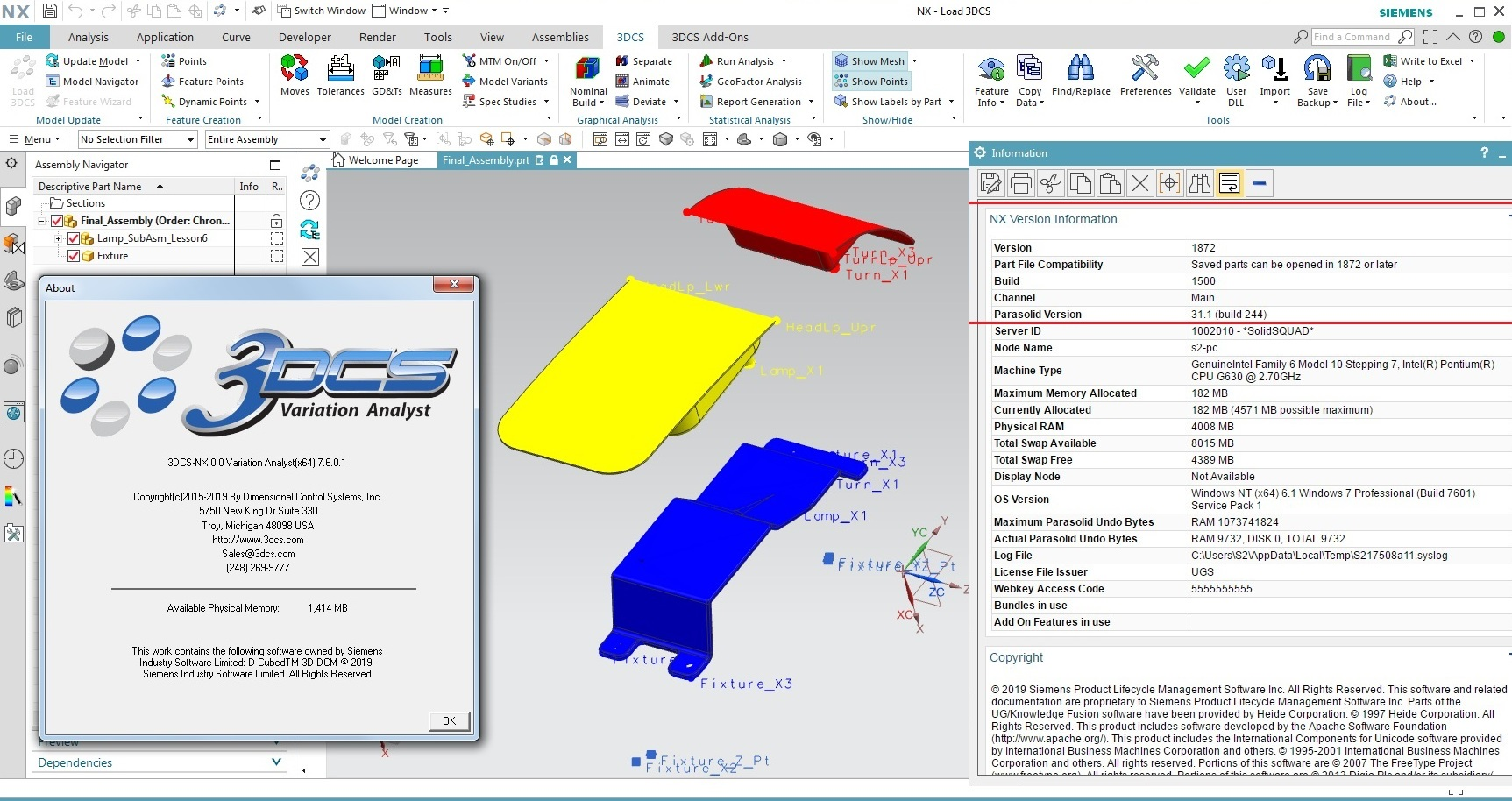 Working with 3DCS Variation Analyst 7.6.0.1 for NX 9.0-18XX full