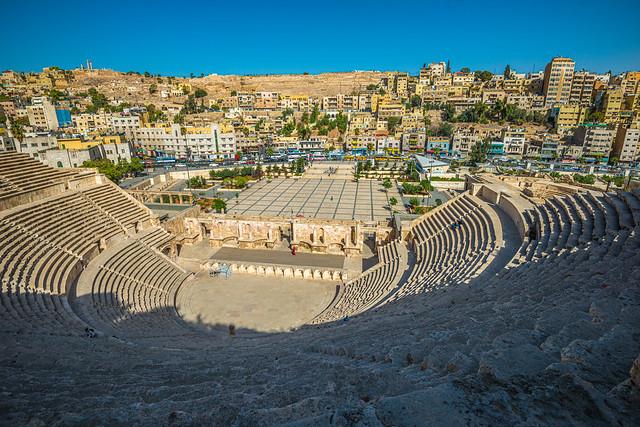 the Roman Amphitheatre in Amman, Jordan