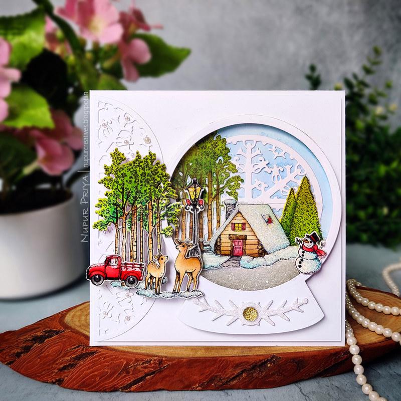 Snow Globe Shaker Card_Nupur Priya_01