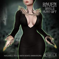 Holdable Raven Skulls ~
