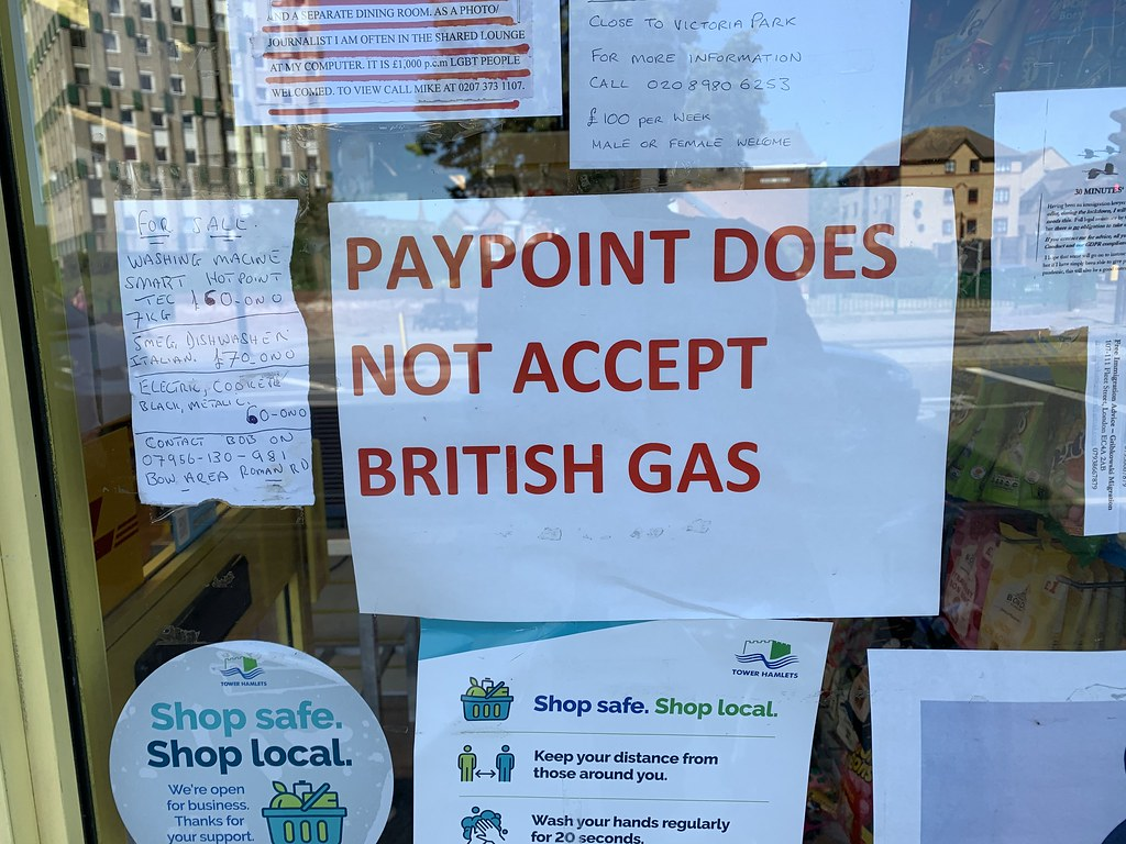 Paypoint does not accept British Gas
