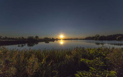 canon6d landscape nature outdoors outside sunset sun lake sky blue uk cambridgeshire