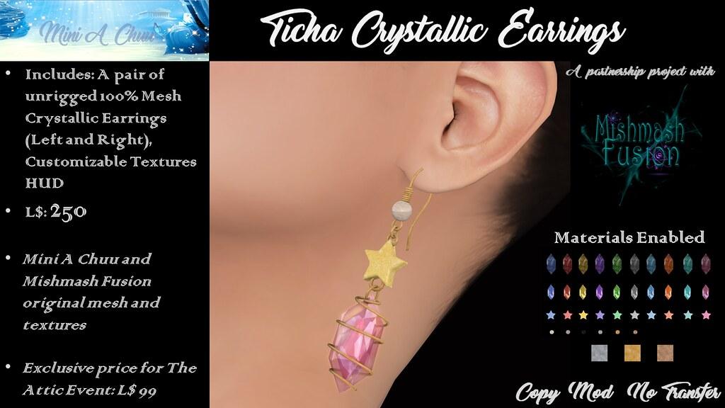 New Release - Ticha Crystallic Earrings