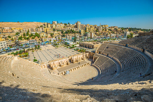 the Roman Amphitheatre in Amman, Jordan