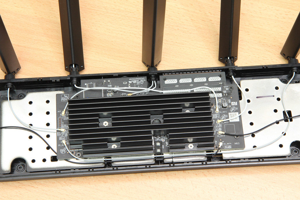 router top view, with cover opened