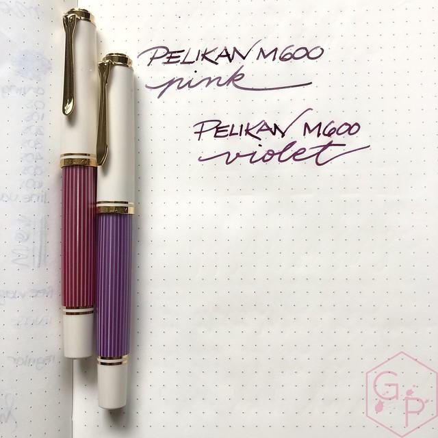 Pelikan Souverän M600 Pink & Violet Fountain Pens 18