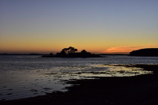 Le premier coucher de soleil des vacances