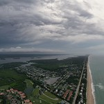 5. August 2020 - 12:07 - Aerial panorama captured earlier today over Melbourne Beach, Florida.