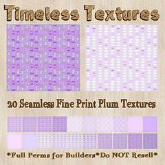 TT 20 Seamless Fine Print Plum Timeless Textures
