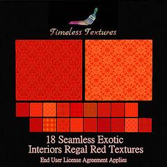 TT 18 Seamless Exotic Interiors Regal Red Timeless Textures