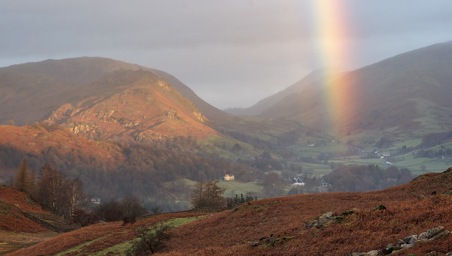 Rainbow, High Close, Langdale, Lake District National Park, Cumbria, UK