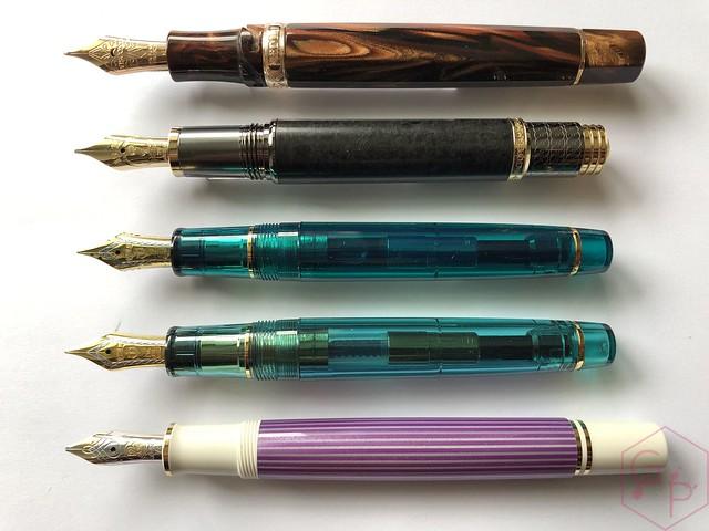 Pelikan Souverän M600 Pink & Violet Fountain Pens 15