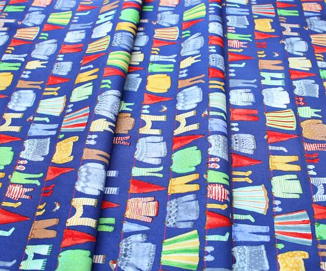 Windham Fabrics Winter Gnomes 51875-4 Gnome Laundry in Nordic
