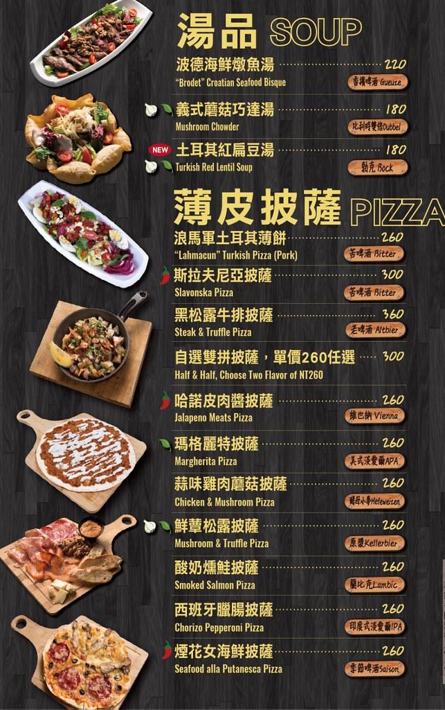 ABV Bar Kitchen 地中海餐酒館2020菜單價位低消訂位MENU (6)