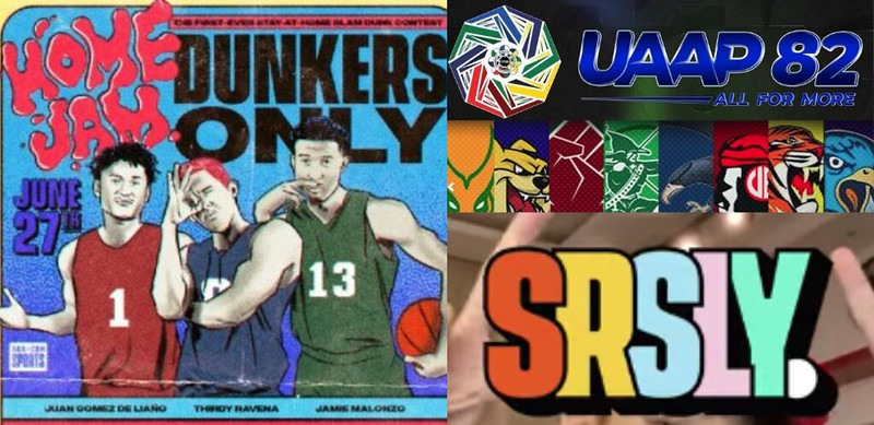 PHOTO 5 - The digital shift of ABS-CBN Sports allowed them to provide sports content & increase its social media presence during the pandemic with new _SRSLY_ episodes and events like _Home Jam Dunkers Only_ and the UAAP S82 closing ceremony