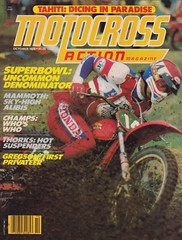 1980 Marty Tripes on the cover of October issue of Motocross Action