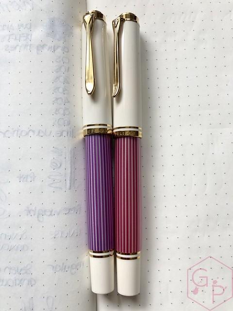 Pelikan Souverän M600 Pink & Violet Fountain Pens 17