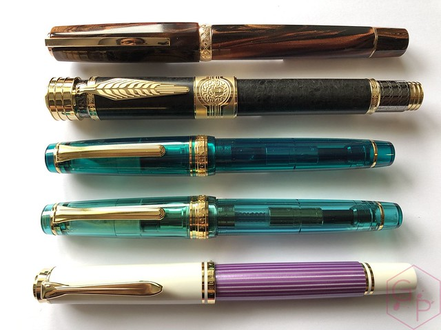 Pelikan Souverän M600 Pink & Violet Fountain Pens 14