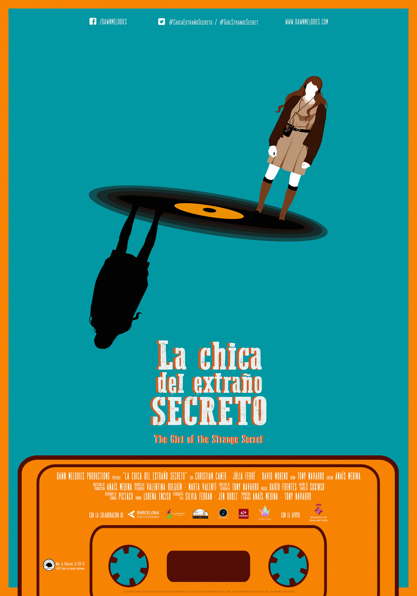 La Chica del Extraño Secreto | The Girl of the Strange Secret - Official Poster