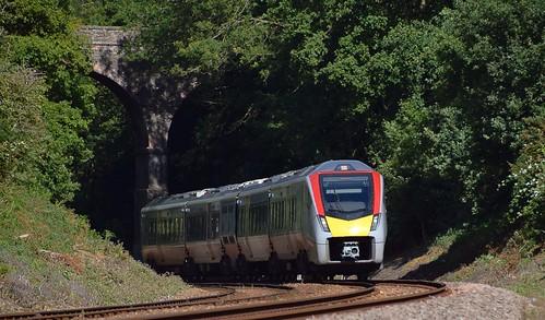 eastsuffolkline woodbridge greateranglia trains railway suffolk rurallandscape class755 bimode diesel unit stadler trees bridge