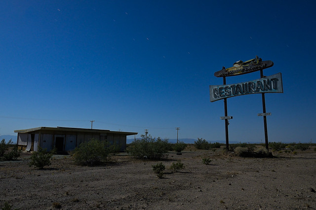 road runner's retreat / route 66. mojave desert, ca. 2013.