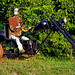 Robot on a steampunk trike?
