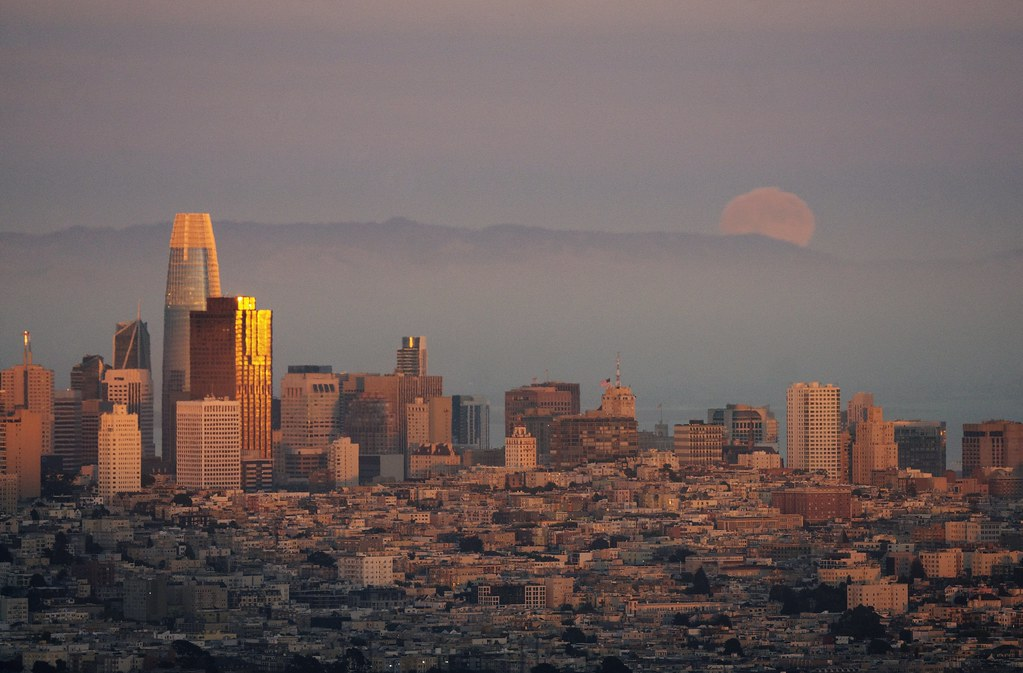 Golden hour over San Francisco