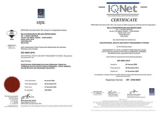 PENSIJILAN ISO 450012018
