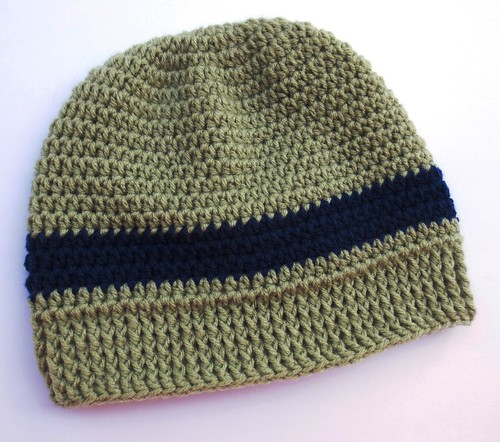 Front Post Crocheted Hat Band
