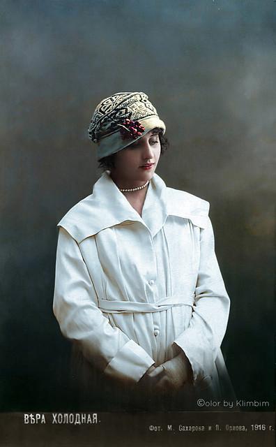 Vera Kholodnaya - russian silent movie star | Вера Холодная, 1916
