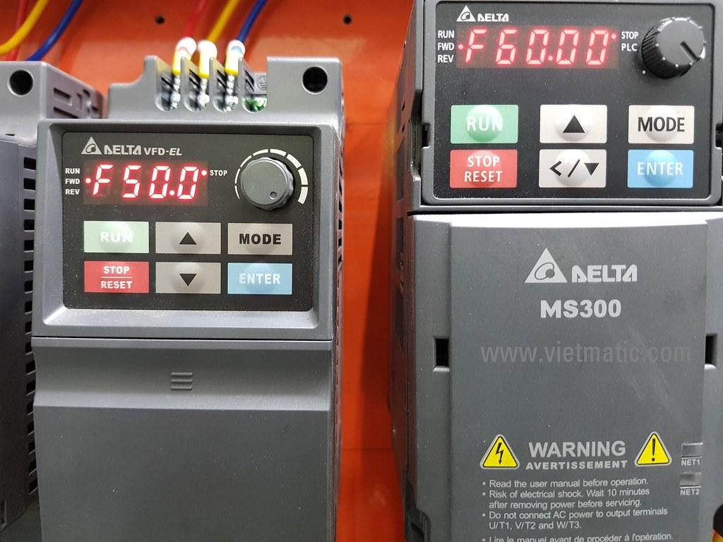 Biến tần Delta VFD-EL và MS300 bị hạn chế ở tần số 50/60Hz