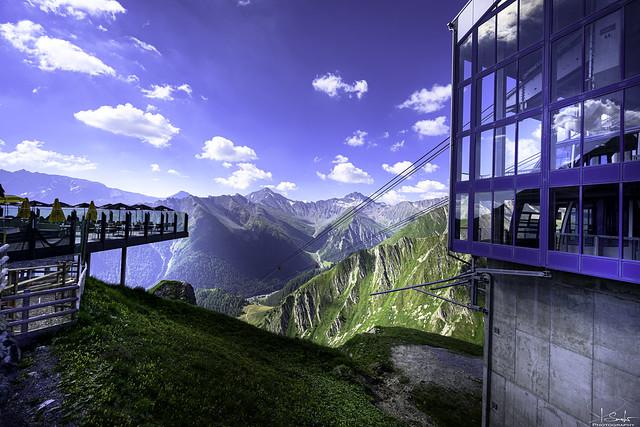 Cable car station Alp Trider Sattel - Samnaun - Graubünden - Switzerland