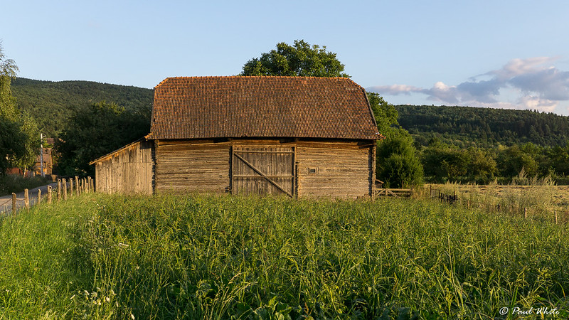 Traditional wooden barn